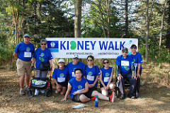 Team photograph from Mississauga Kidney Walk 2017
