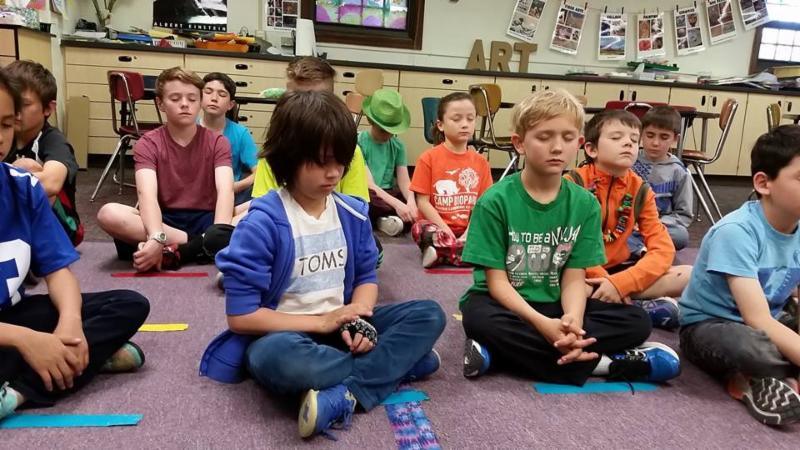 Learners Chess students practicing mindfulness.