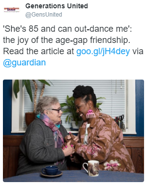 Older white woman with young black woman.