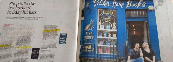 Golden Hare Books in the Observer 14July19
