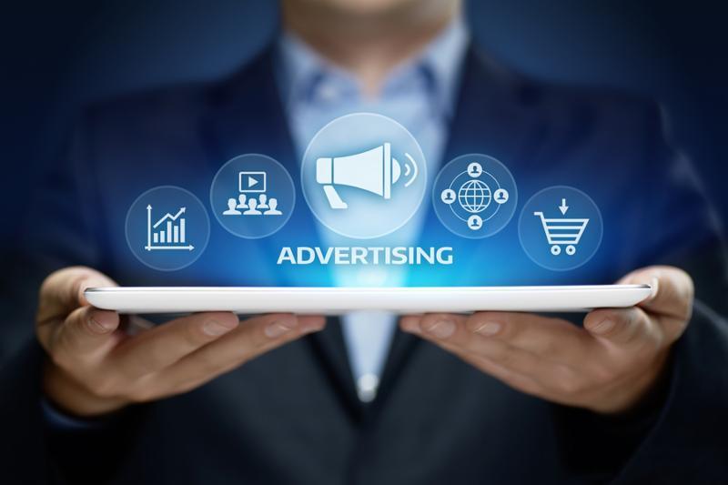 Advertising Marketing Plan Branding Business Technology concept.