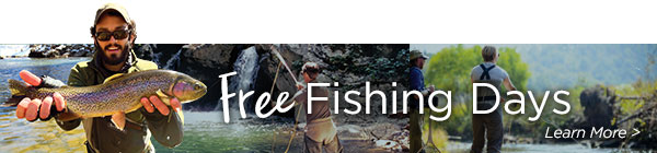Free Fishing Days banner