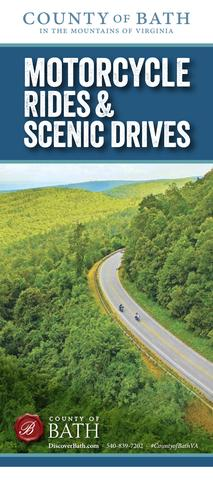 motorcycle rides and scenic drives brochure