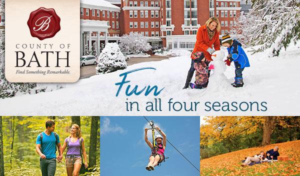 Fun in all four seasons in Bath County Va