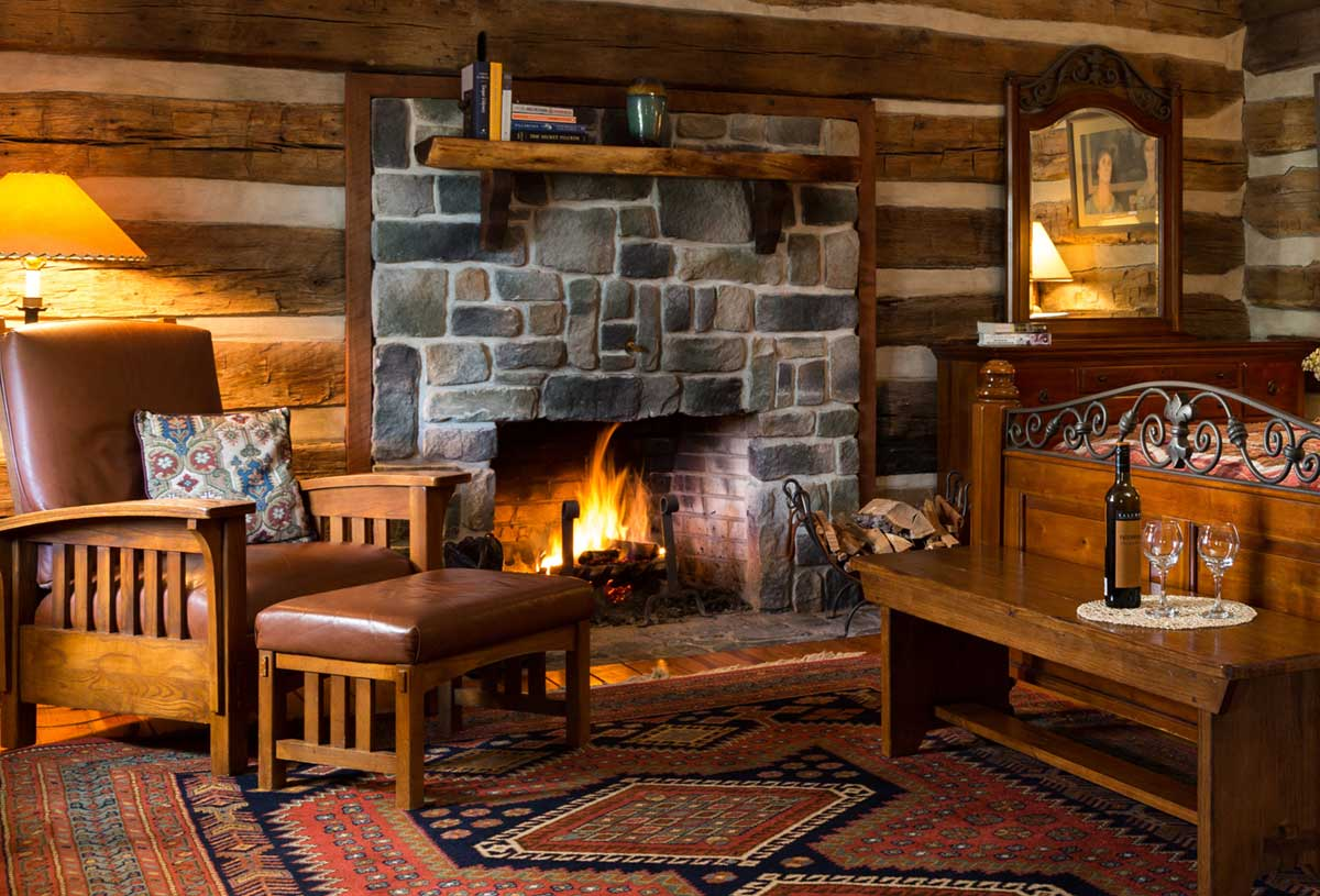 Fort Lewis Lodge fireplace