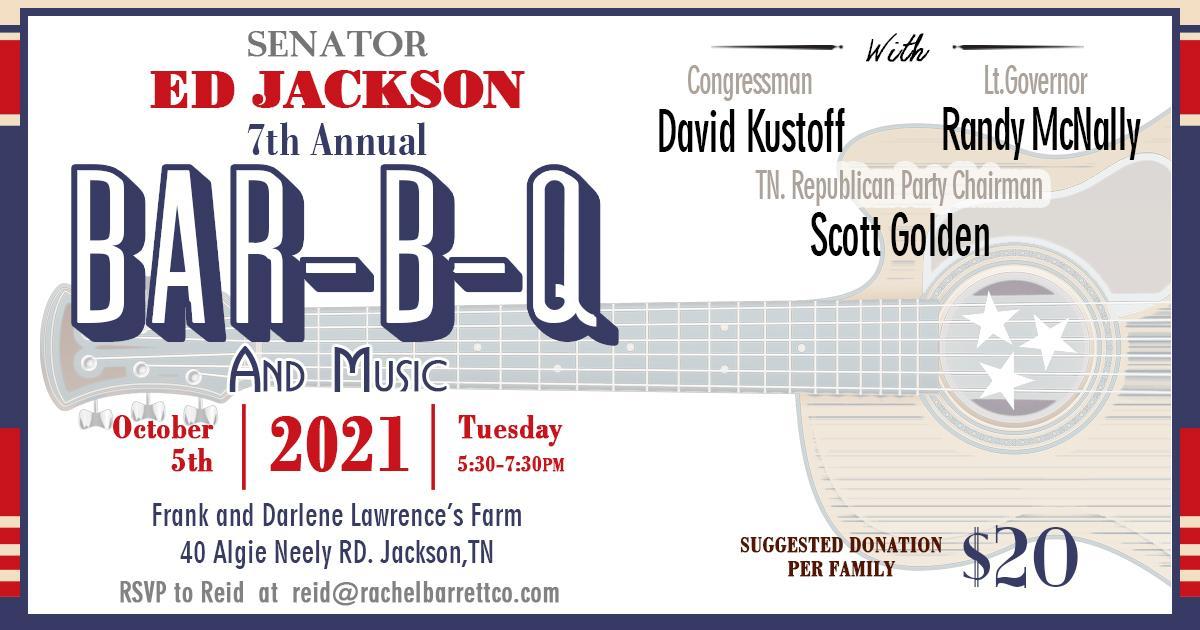Ed Jackson 7th Annual Bar-B-Q!