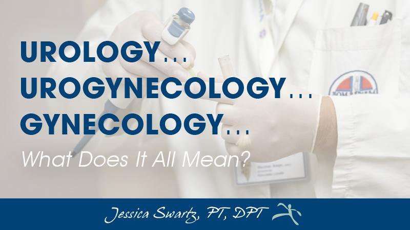 Urology vs  Urogynecology vs  Gynecology