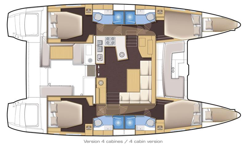 lagoon 450 4 cabin layout