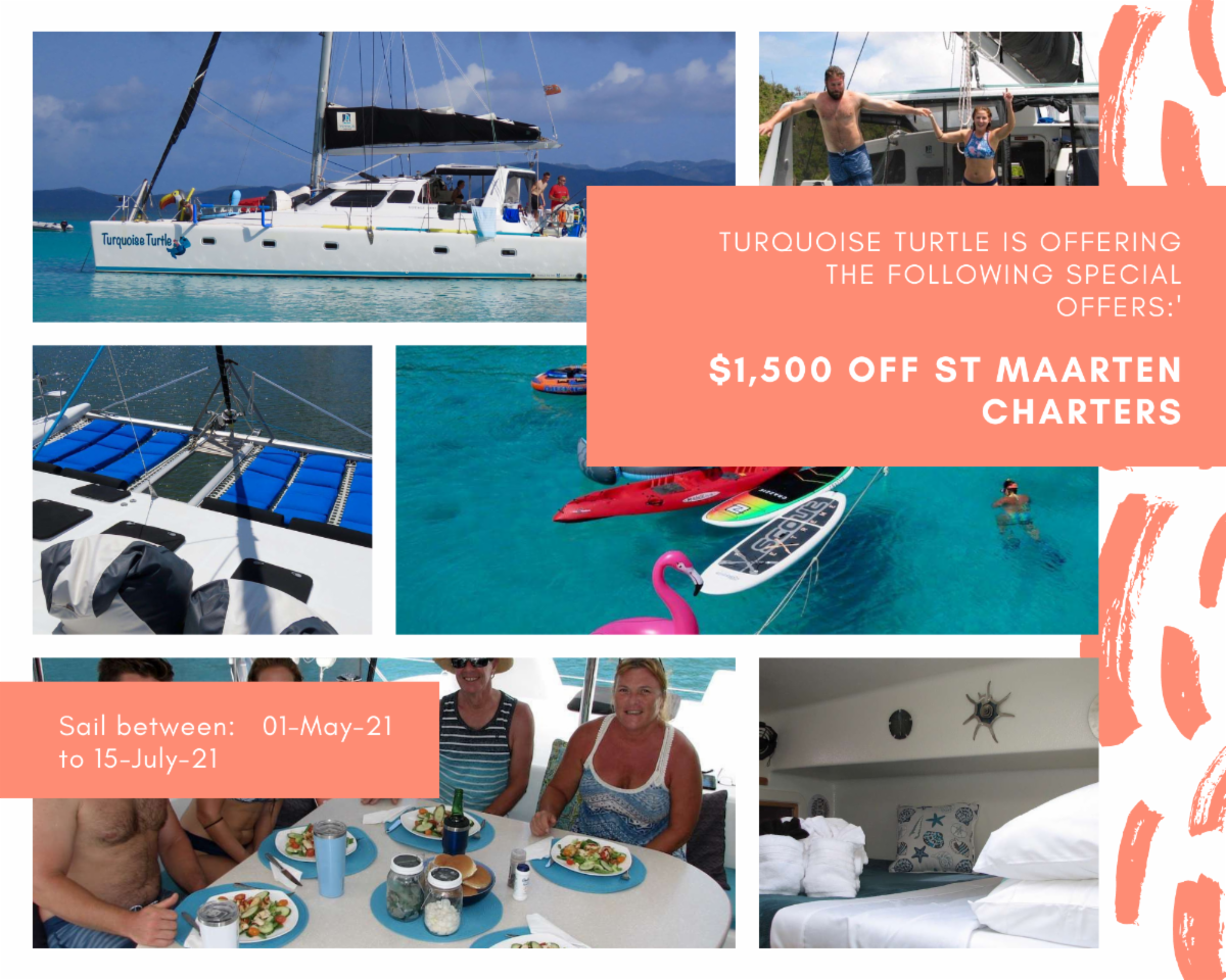 $1,500 Discount Aboard Crewed Voyage 500 in St.  Martin - Great Value!