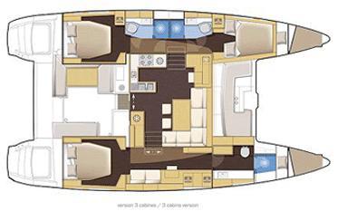 lagoon 450 3 cabin layout
