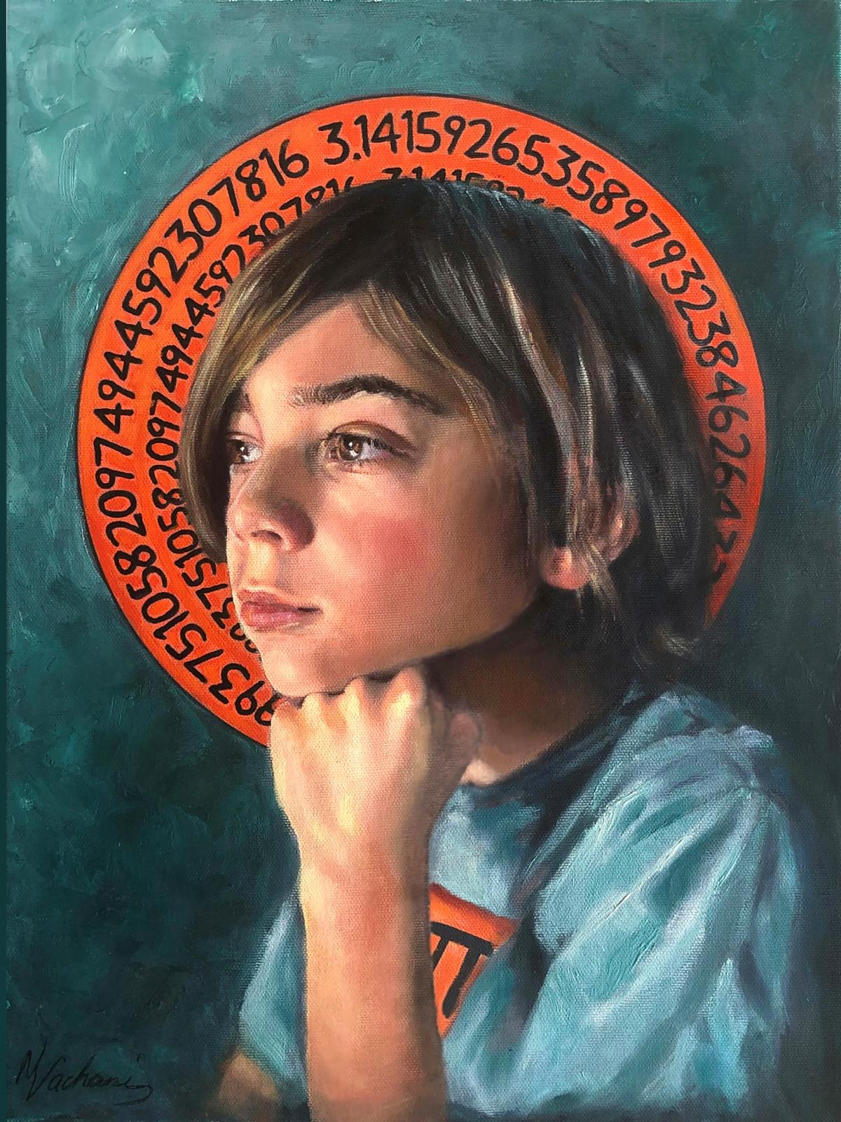"""Nancy Vachani of Moraga's Pi Day at the Exploratorium, a 20"""" x 16.25 oil painting #635, is on display at The de Young Open in Room 6 through Jan. 3, 2021."""
