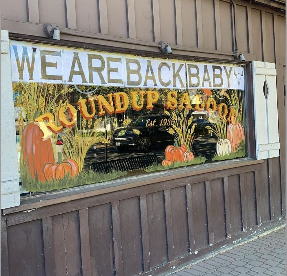 Welcome Back Roundup Saloon