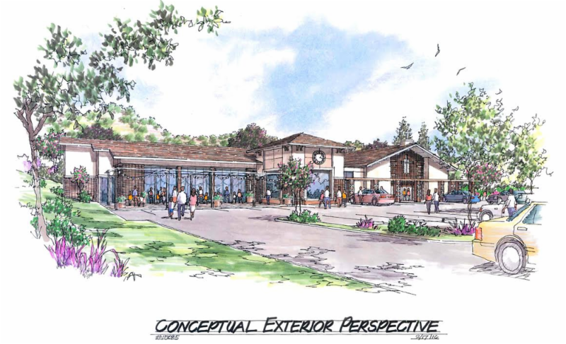 Rendering of St. Perpetua's New Social Center