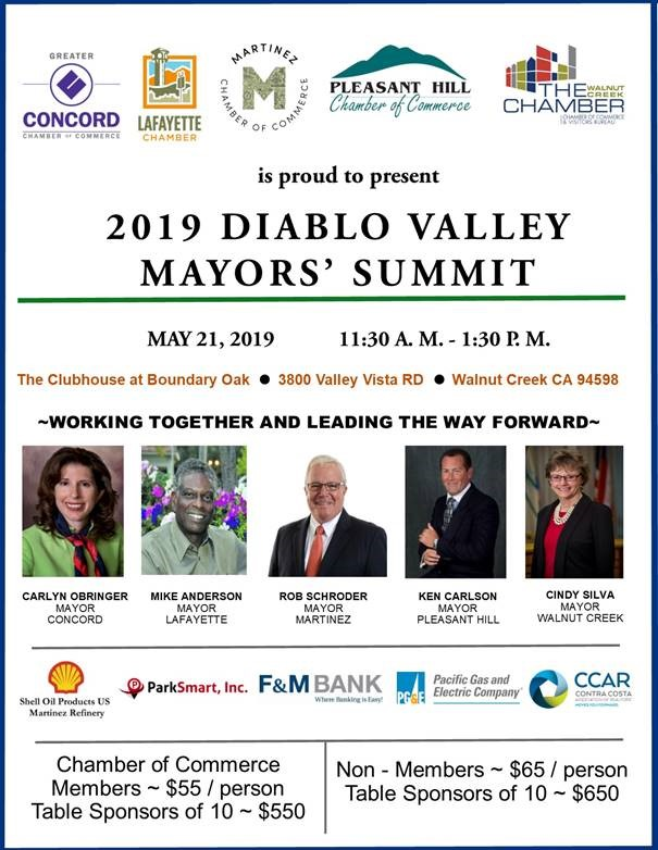 2019 Diablo Valley Mayor's Summit
