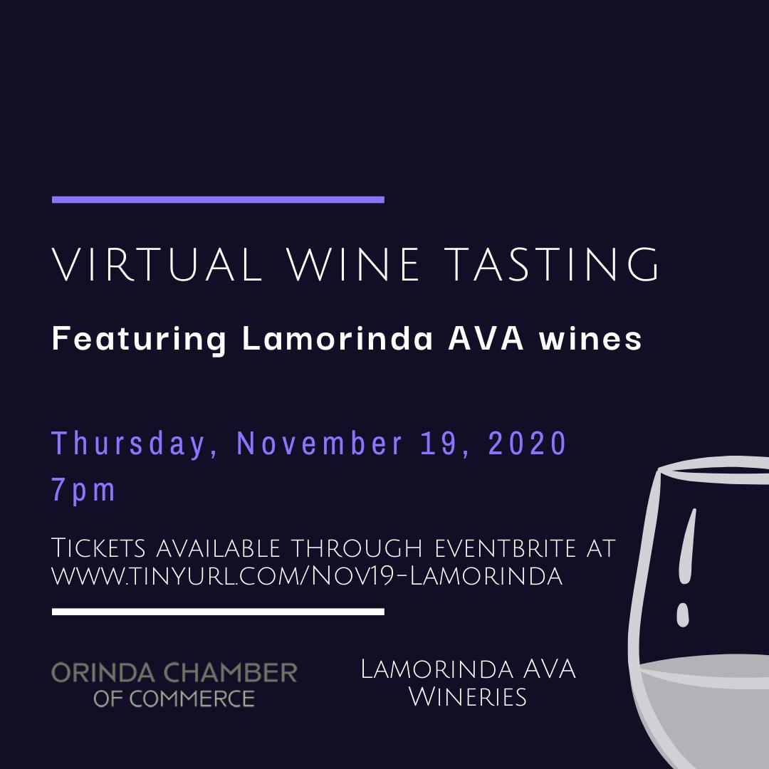 Orinda Chamber of Commerce Virtual Wine Tasting