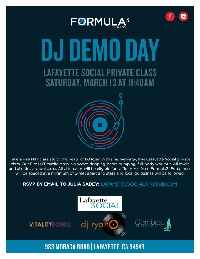 Formula 3 Fit DJ Demo Day