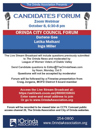 Orinda Candidates Forum