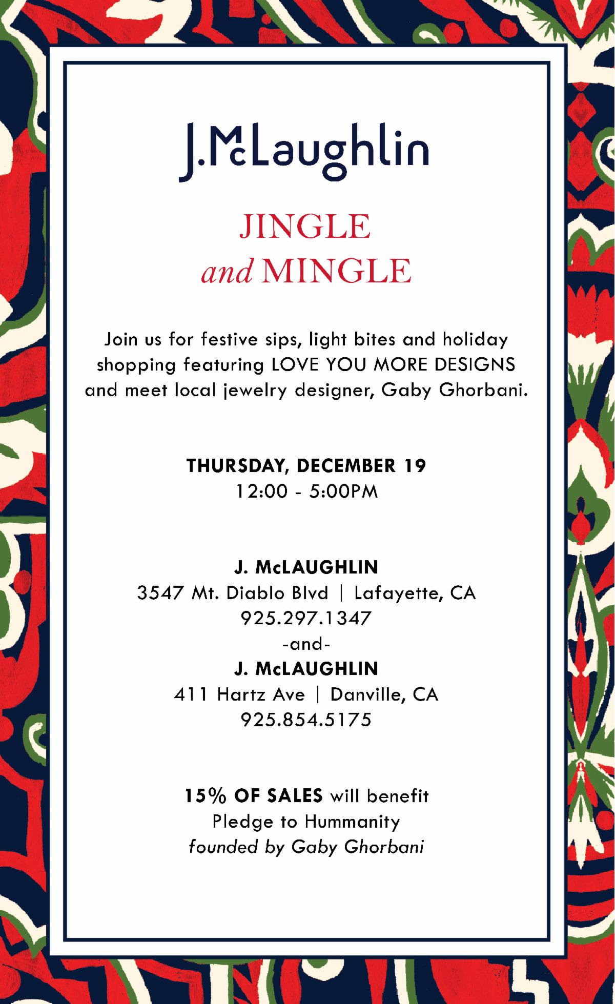 J. McLaughlin Jingle & Mingle