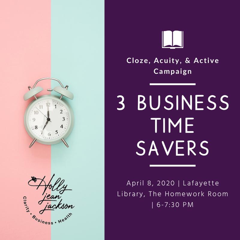 3 Business Time Savers