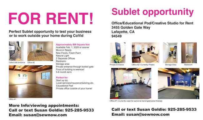 Sublet Opportunity