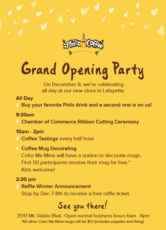 Philz Coffee Opening Party