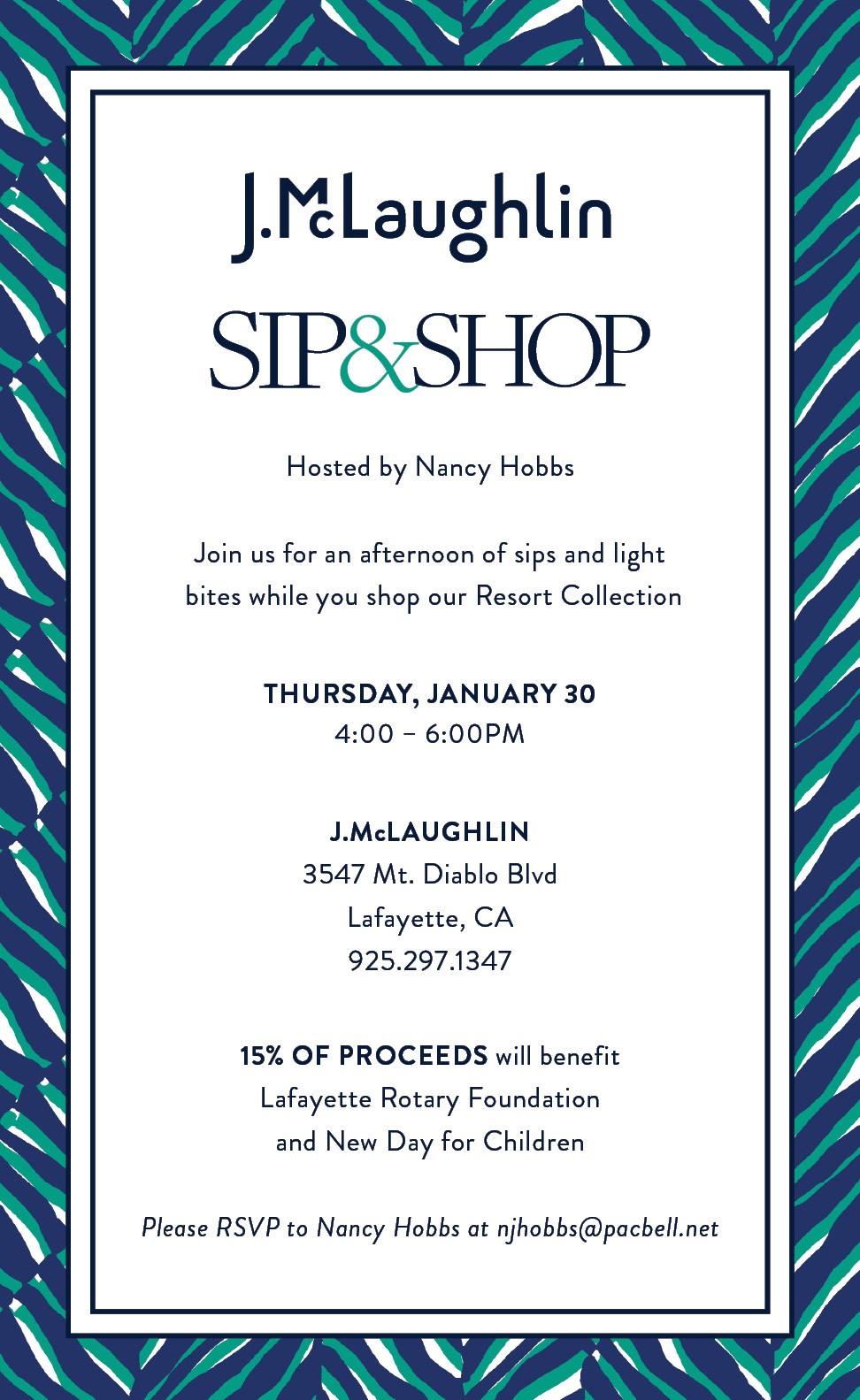 Sip & Shop Fundraiser