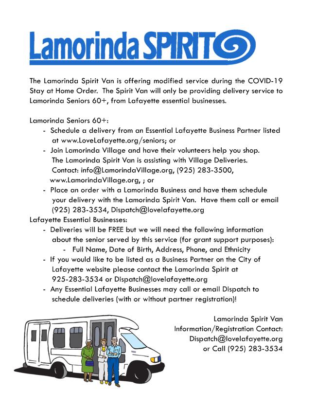 Lamorinda Spirit Van