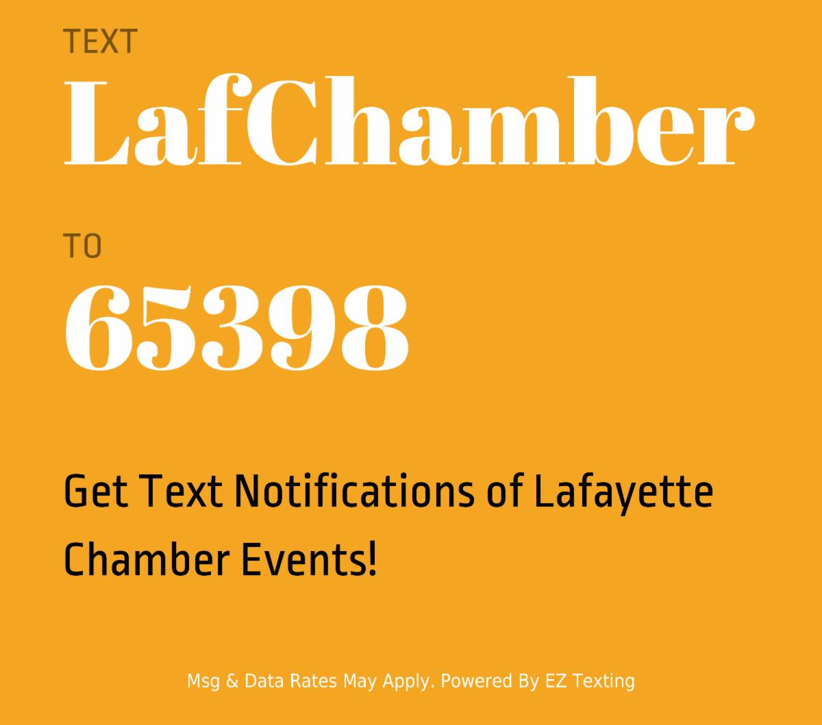 Text for Chamber Events!