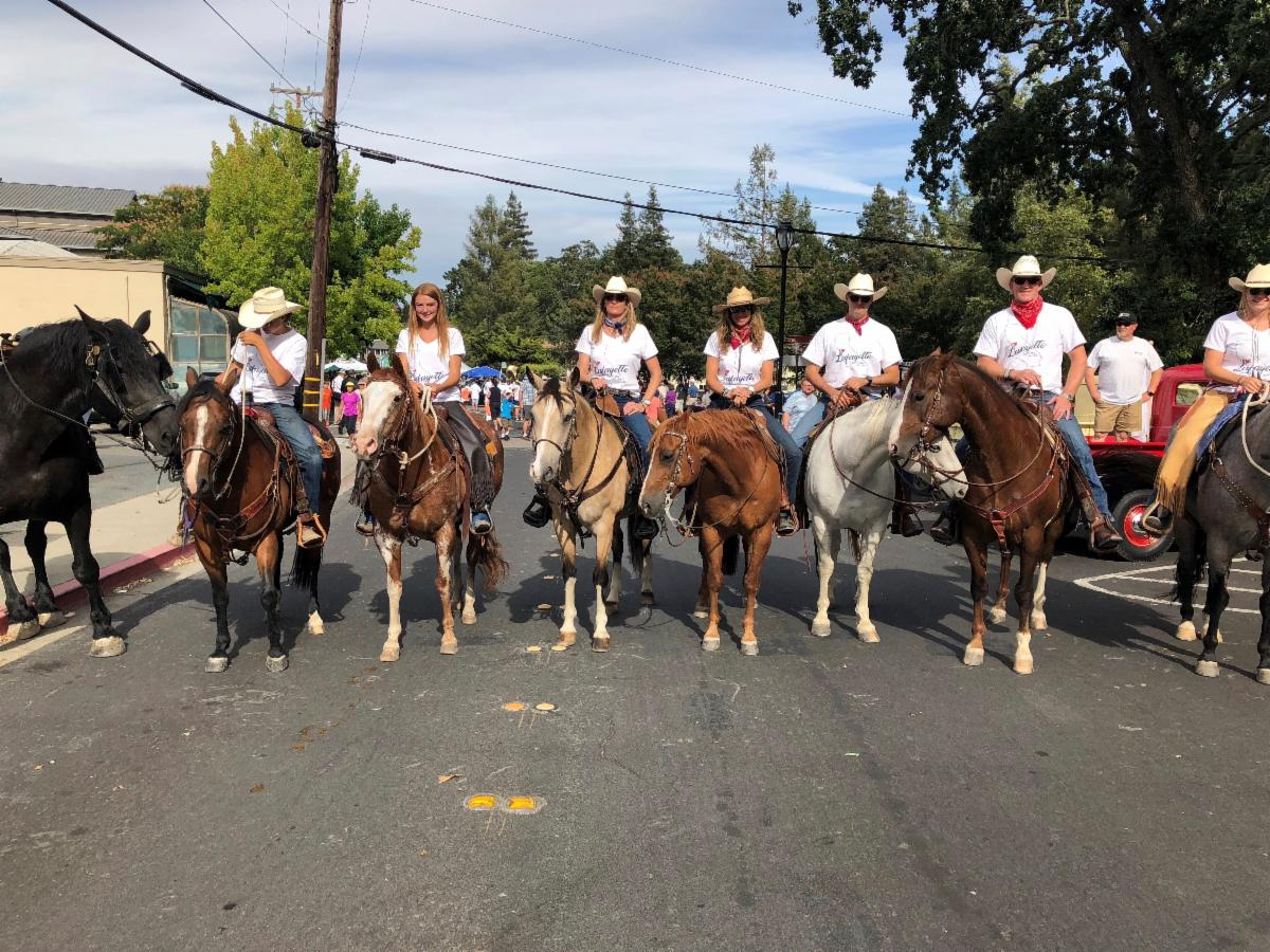 Cowgirls Riding Through Town!