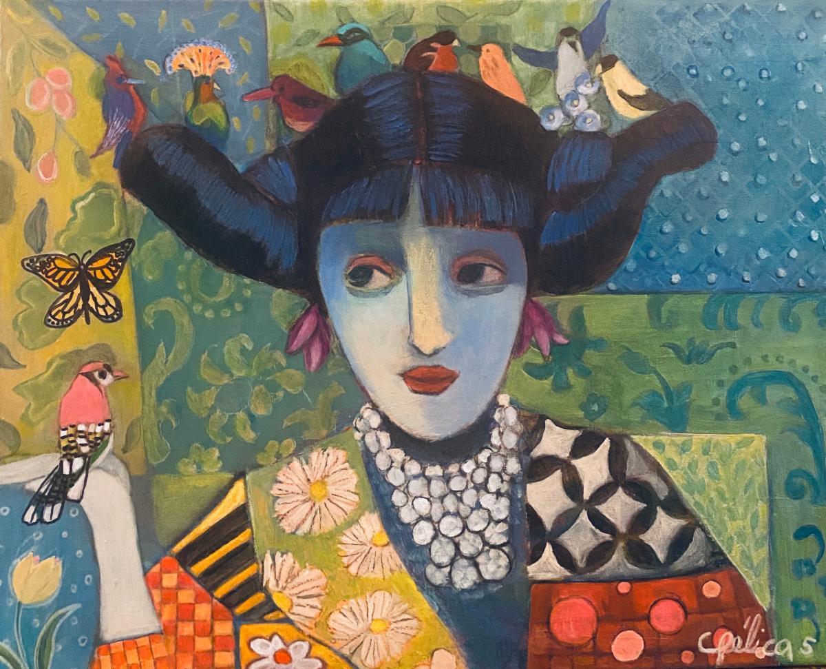 Angélica Samame, Friends, Acrylic on Canvas
