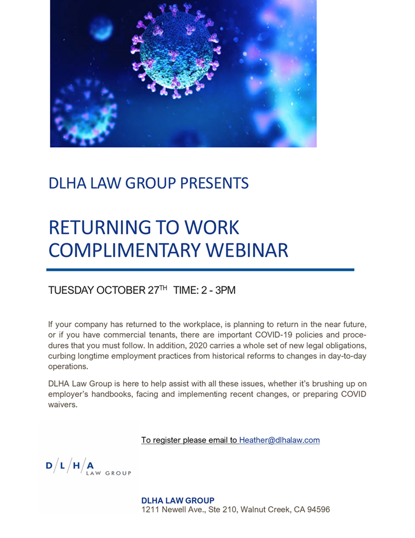 Returning to Work Webinar