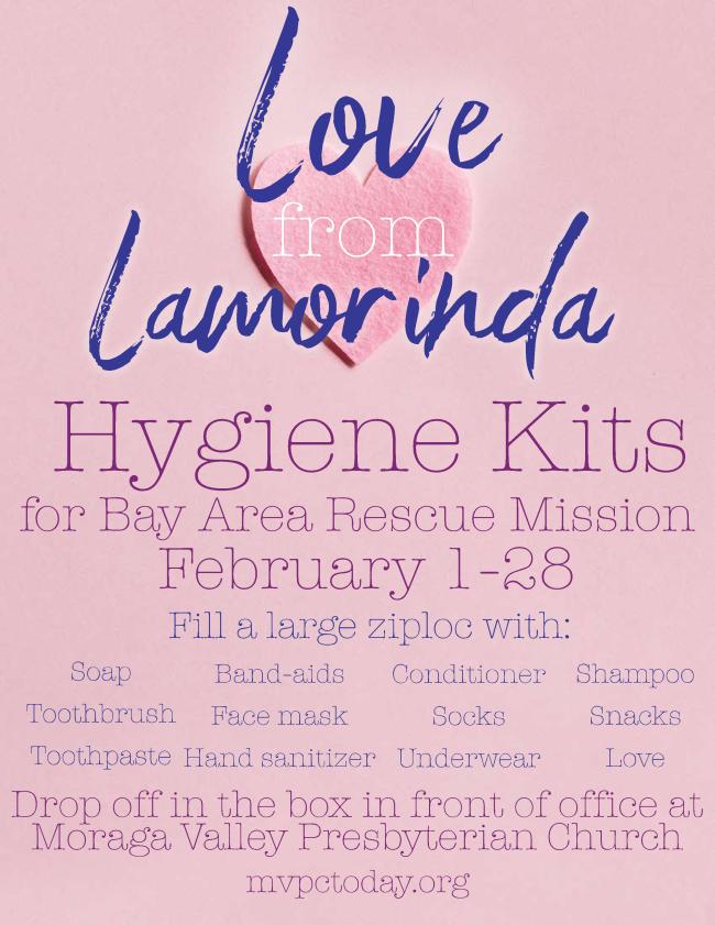 Love from Lamorinda Hygiene Kits