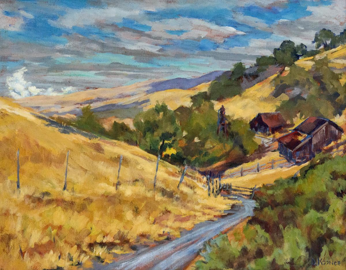 Debby Koonce, Atop Old Borges Ranch, Acrylic on Canvas