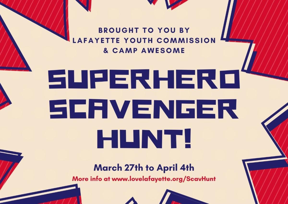 Superhero Scavenger Hunt!