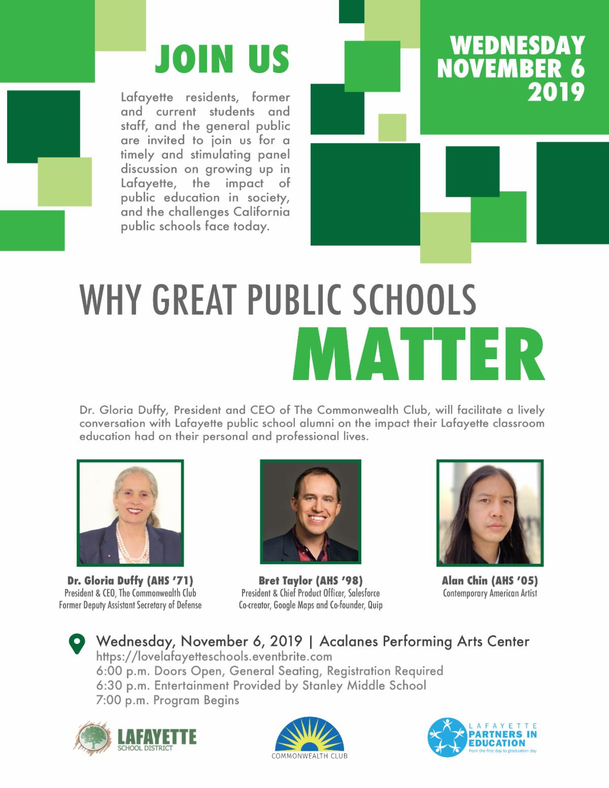 Why Great Schools Matter - November 6