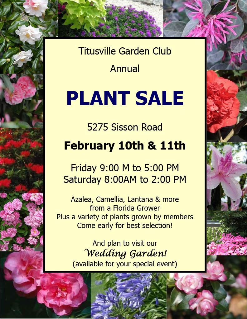 Titusville Garden Club Annual Plant Sale Titusville Fl Chamber Of