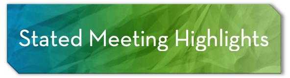 stated meeting hightlights