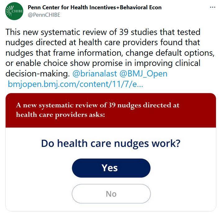 do health care nudges work