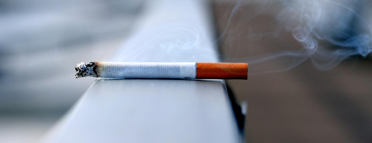 photo of a lit cigarette
