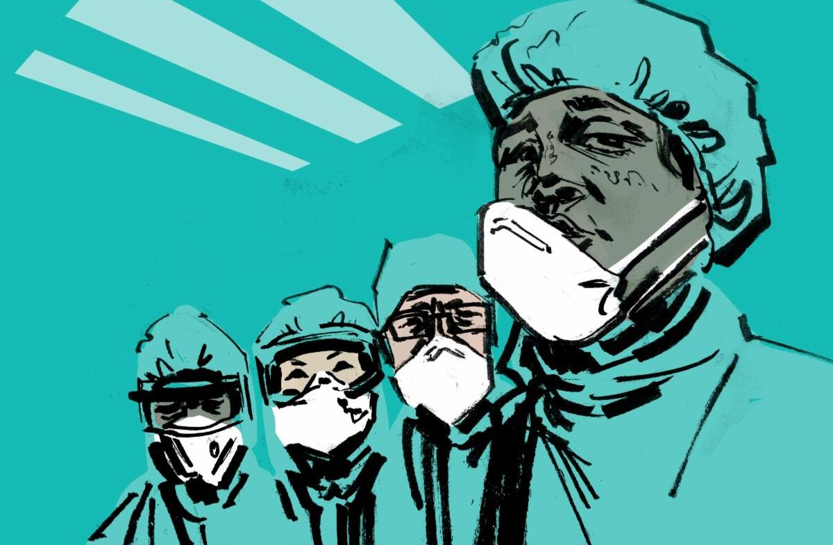 graphic of doctors with masks
