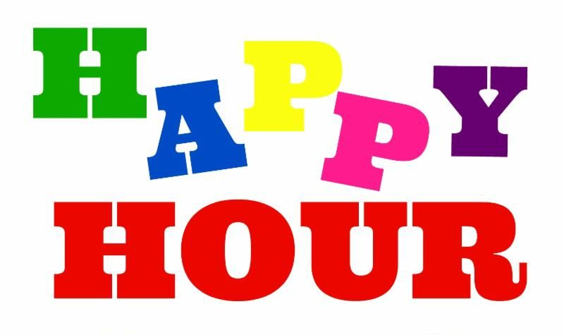 Happy Hour in rainbow colors