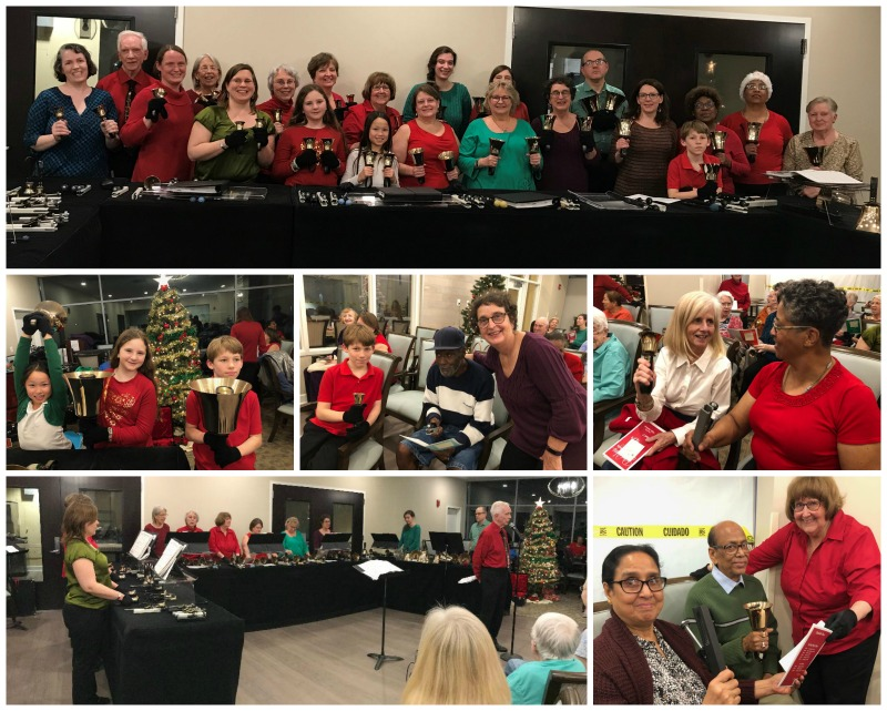 Handbell choirs @ Culpepper Garden Christmas 2019