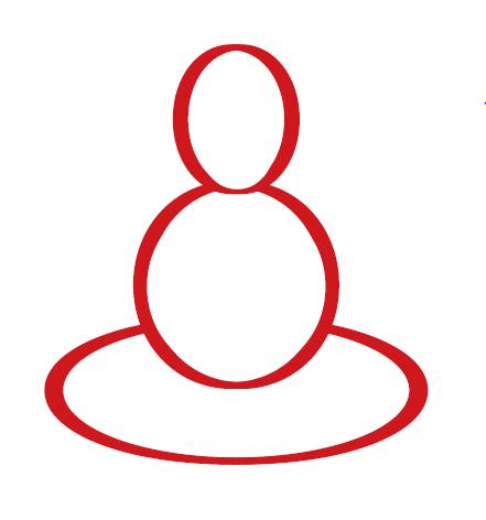 circles forming Buddha shape