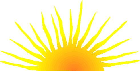 sun rising graphic