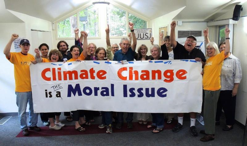 Climate Change is a moral issue banner