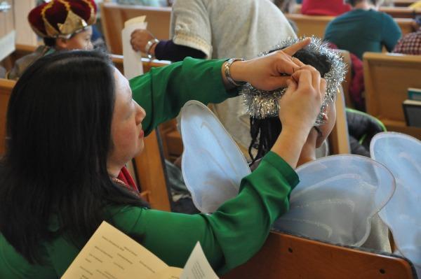 angel getting her halo straighten