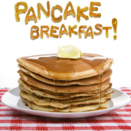 Pancake Breakfast stack of pancakes