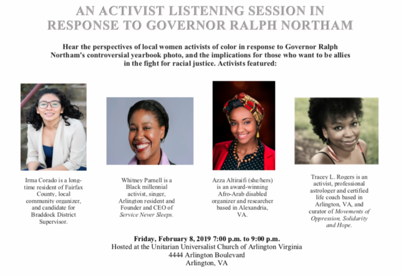 Activist Listening Session on Northam
