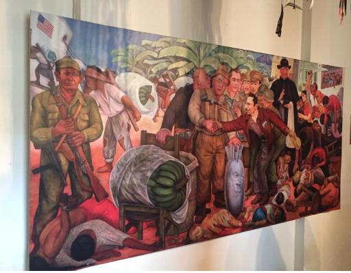 Mural in Guatemalan museum
