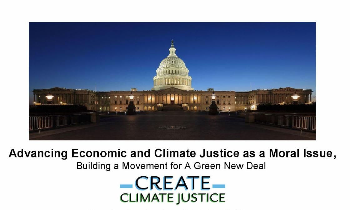 Economic & Climate Justice as a Moral Issue - Building a Movement for a Green New Deal - capitol building image
